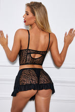 Load image into Gallery viewer, 3 Pieces Lace Cami Skirt Set