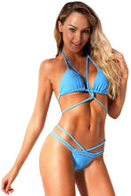 Load image into Gallery viewer, Braided Rope Strappy Bikini Swimsuit