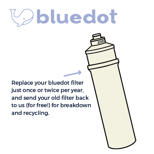 bluedot replacement filter