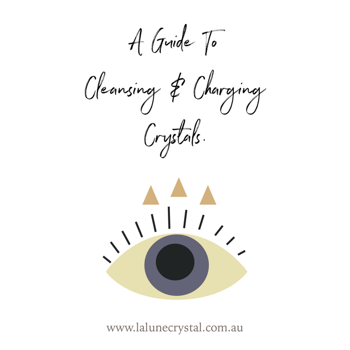A guide to cleansing & charging crystals.