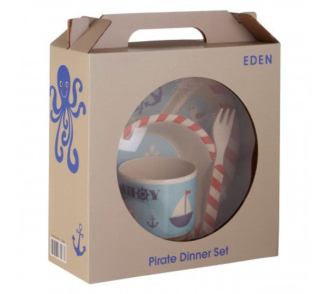 Eden 5pc Bird or Pirate Dinner Set