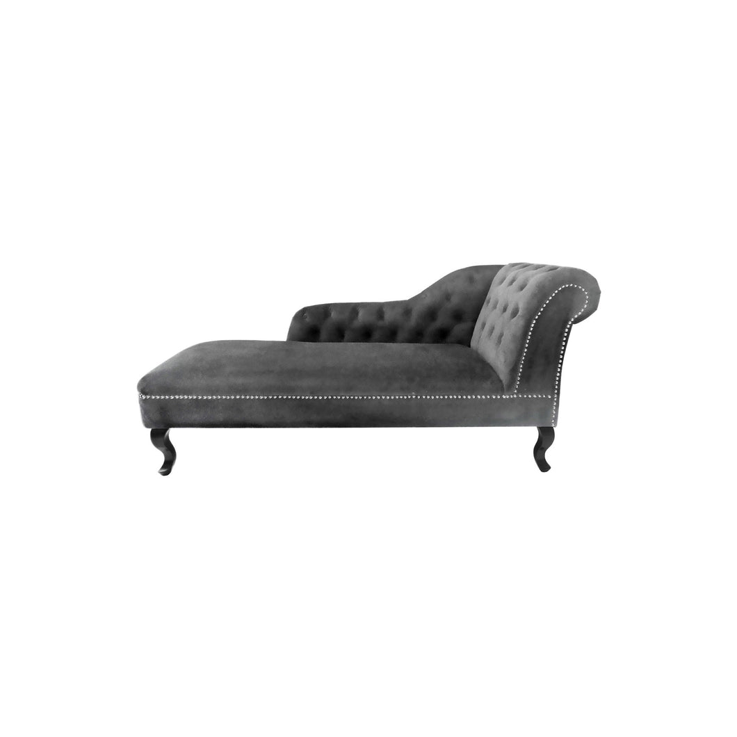Grey Velvet Chesterfield