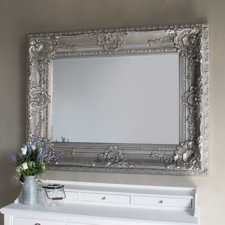 Antique Style Westminster Silver Mirror