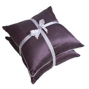 Colette Faux Silk Cushion Heather
