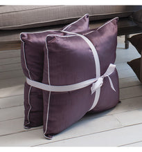 Load image into Gallery viewer, Colette Faux Silk Cushion Heather