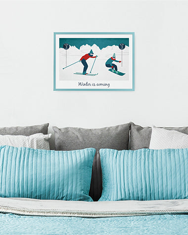 Affiche - Les Alpes Winter is coming