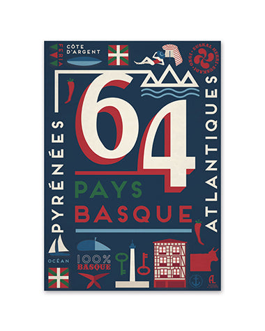 Affiche - Pays Basque 64