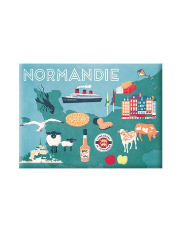 Magnet - Carte de Normandie