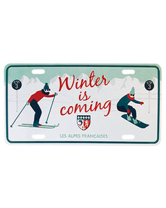 Plaque postale décorative - Alpes Winter is coming