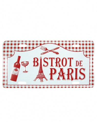 Plaque postale décorative - Bistrot de Paris