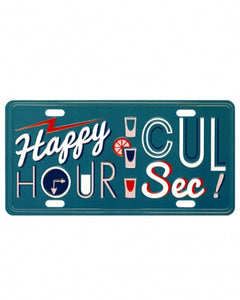 Plaque postale décorative - Happy hour cul sec !