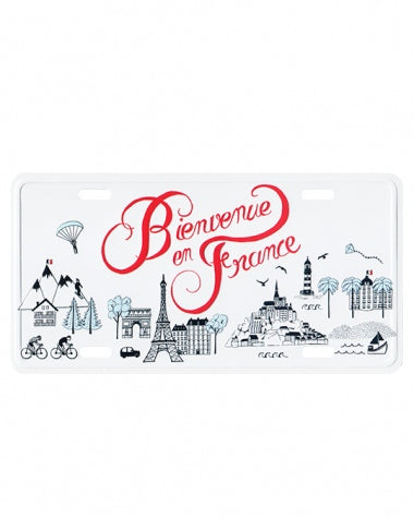 Plaque postale décorative - Bienvenue en France