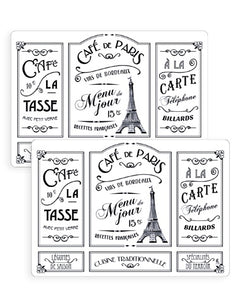 Set de table - Café de Paris blanc