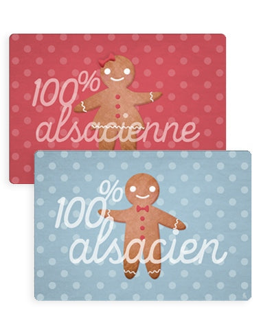 Sets de table - 100% Alsacien / 100% Alsacienne