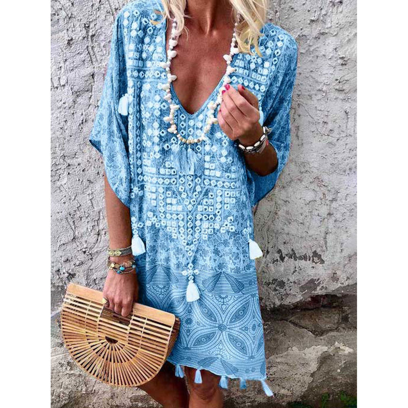 Holiday Half Sleeve Vacation Dresses