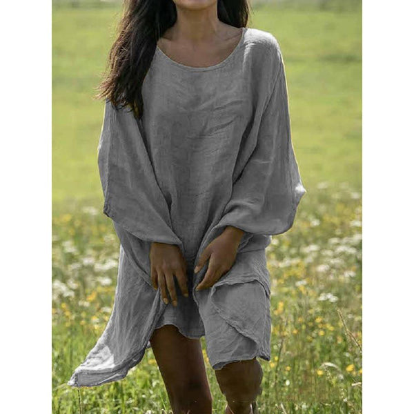 Summer New Loose Solid Beach Dress
