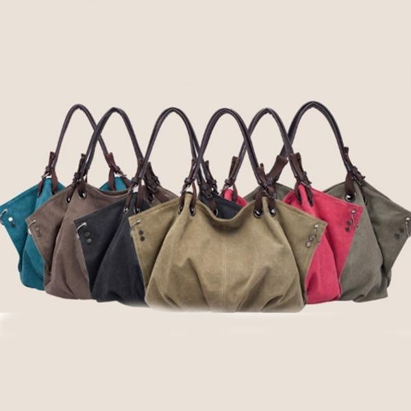 Fashion Design Large Capacity Canvas Tote Handbags
