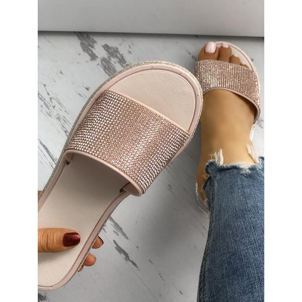 Sequins Embellished Non-slip Slippers