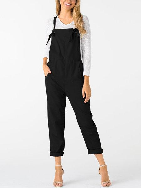 Square Neck Sleeveless Overall Outfits