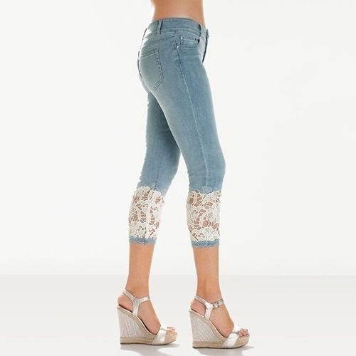 New Fashion Women Lace Jeans