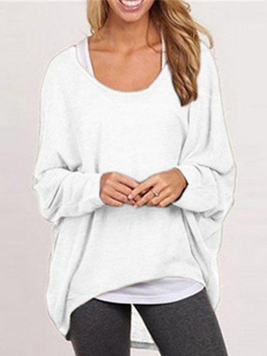 Women Oversized Loose-Fit Batwing Blouse