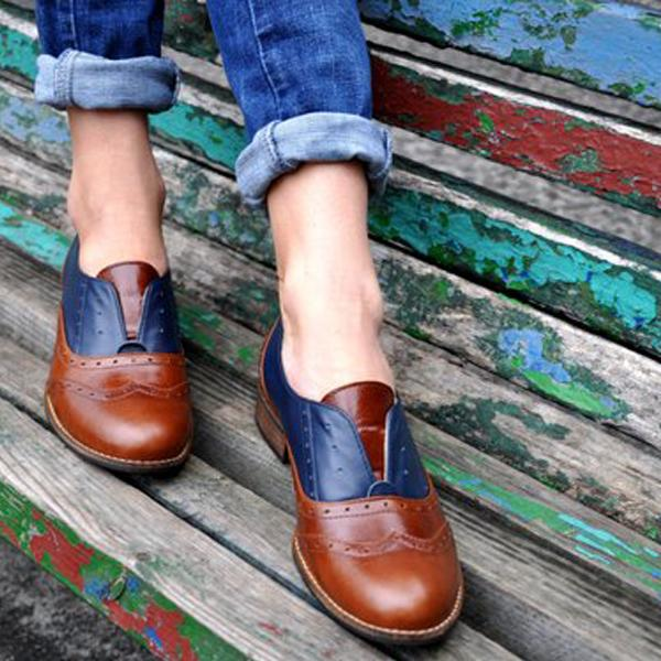 Laceless Oxfords Slip on Shoe