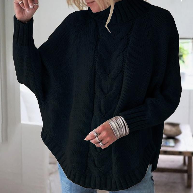 Round Neck Asymmetric Hem Fashion Sweaters