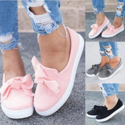 Women  Loafers Casual Bowknot Shoes