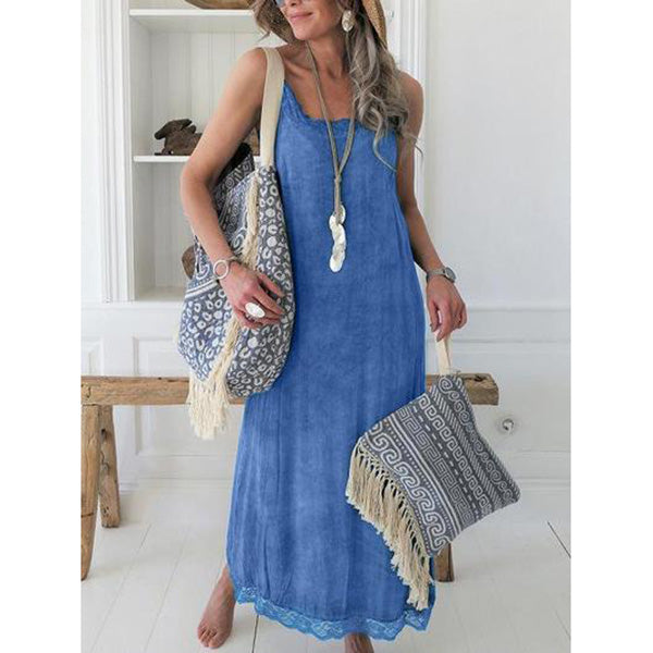 Plus Size Casual Sold Sleeveless Dresses