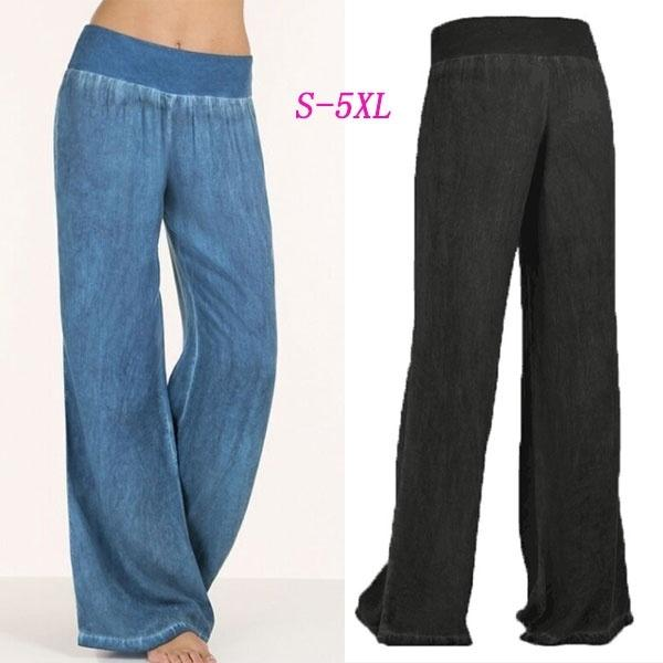 Plus Size New Women Fashion Wide Leg Pants