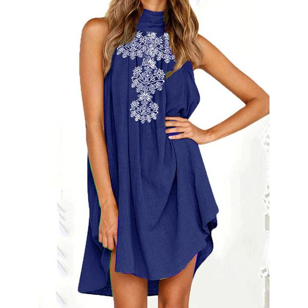 Summer Printed Loose Sleeveless Daily Dress