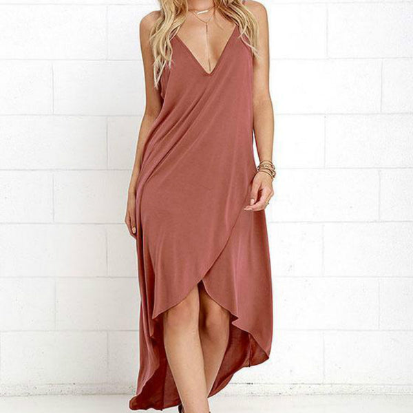 V-neck Sleeveless A-line Dresses