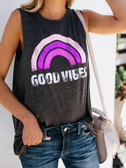 Good Vibes O-Neck Vest