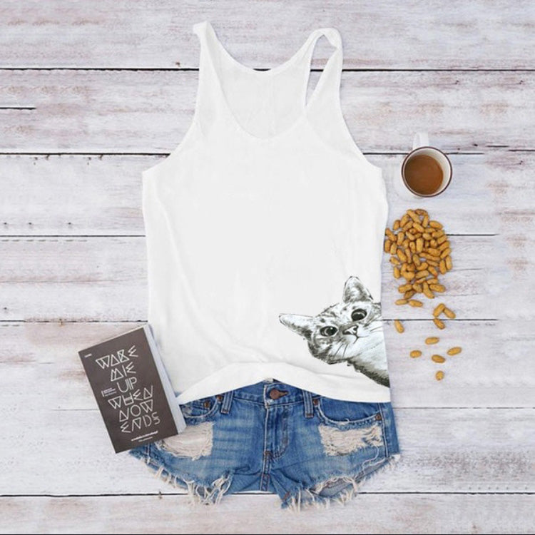 Casual Fashion Cute Cats Tank Tops