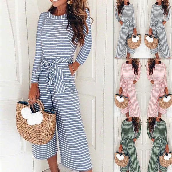 Striped Summer Jumpsuits