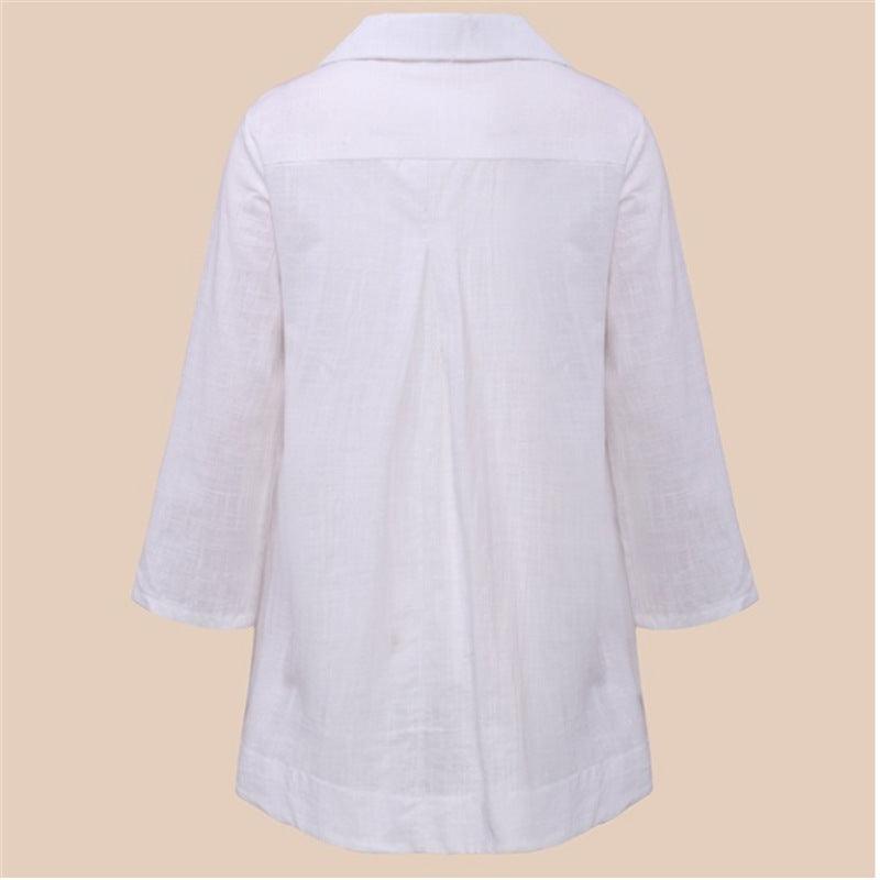 Loose Comfortable V-Neck Blouse