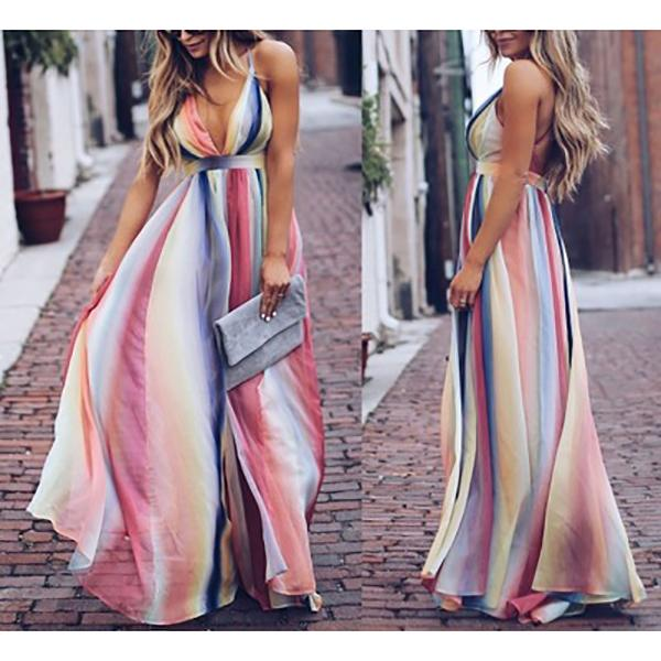 Sling Bohemian Printed Long Dresses