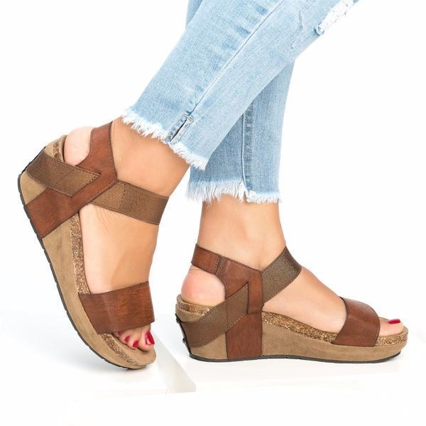 Med Wedge Comfortable Platform Women Sandals