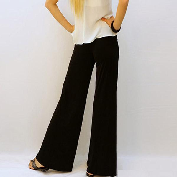 Black Loose High Waist Wide Leg Pant