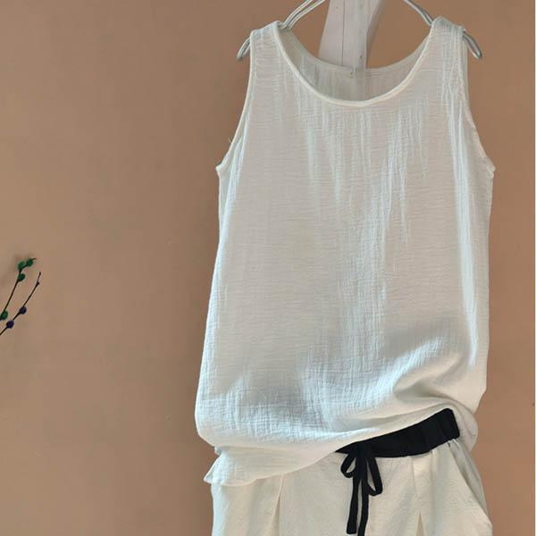 Simple&Basic Linen Vests