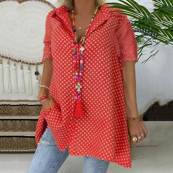 Plus Size Polka Dot Blouse