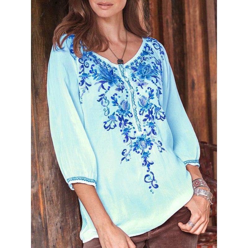 Floral Printed Long Sleeve Buttoned Shirt