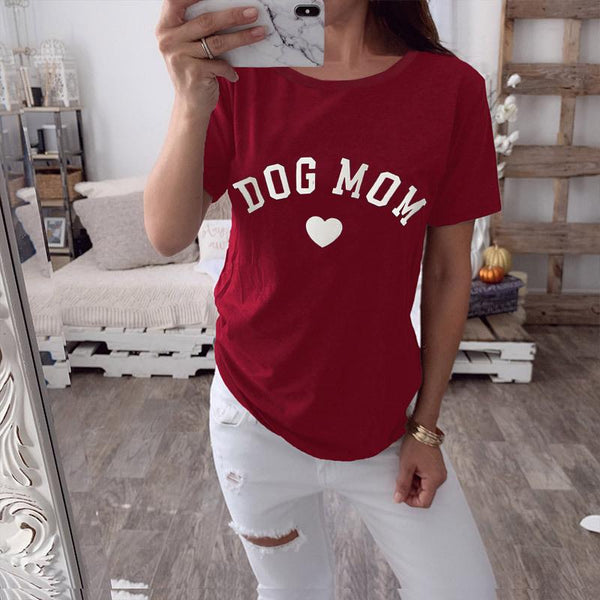 Casual Letter Printed  Short Sleeve T-Shirt