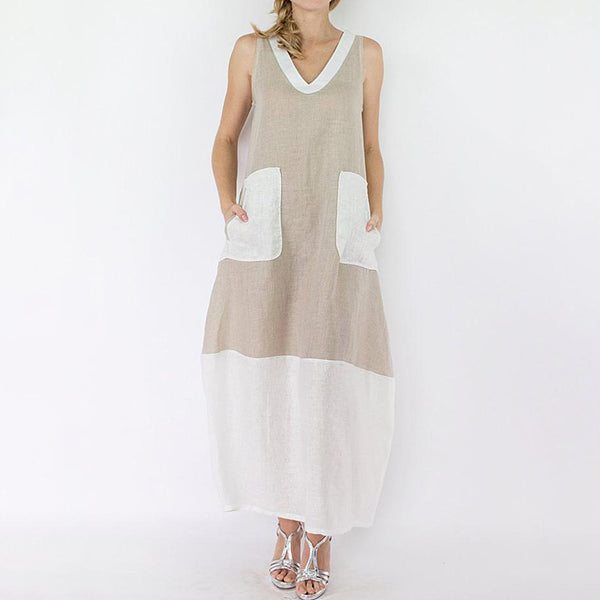 V Neck Casual Sleeveless Dress