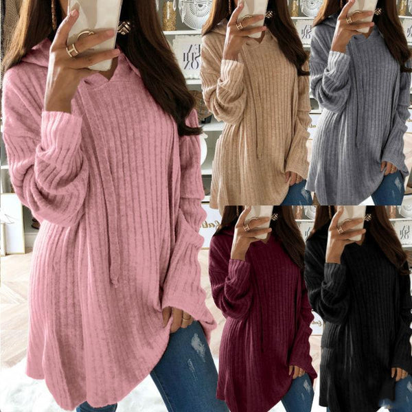 Solid Fashion Women Loose Sweater