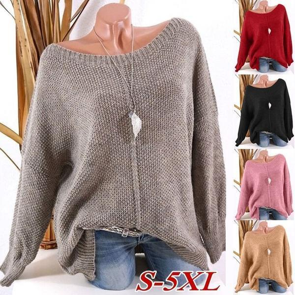 Solid Color and Casual Autumn Sweaters for Women S-5XL