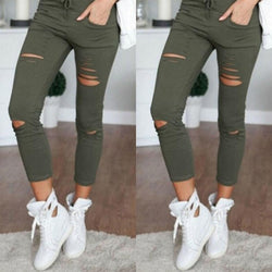 Sexy Women High Waisted Denim Stretch Jeans