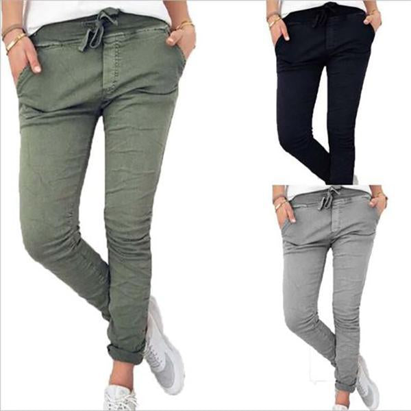 Women Fashion Comfy Long Slim Pants