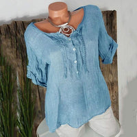 Casual Loose Short Sleeve Blouse