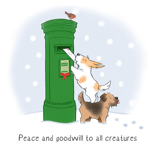 Watson's Christmas Card - Peace and Goodwill to all